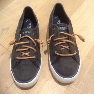 Sperry top sider boat shoes, black